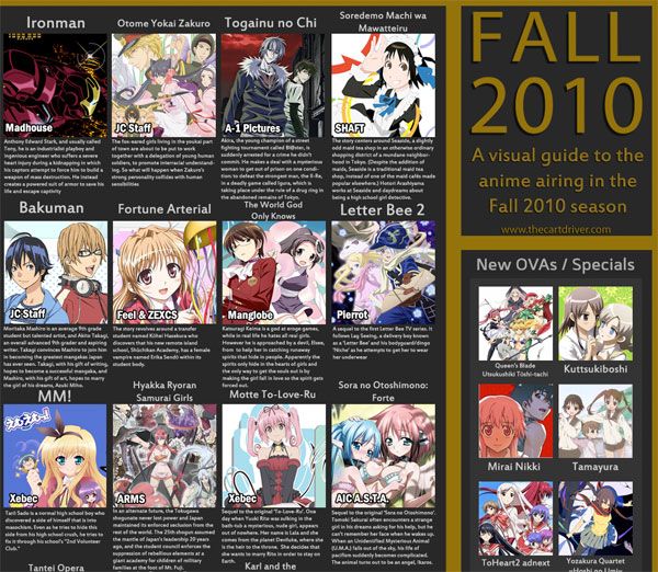 Anime In Gma List: Upcomng Anime List Fall 2010