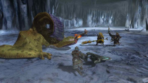 MH3U party screen