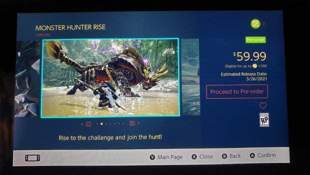 MonsterHunterPreOrder